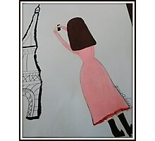 The Girl in the Pink Dress - Paris Photographic Print