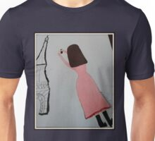 The Girl in the Pink Dress - Paris Unisex T-Shirt