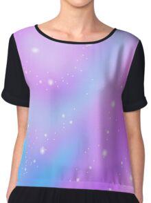 pastel galaxy Chiffon Top