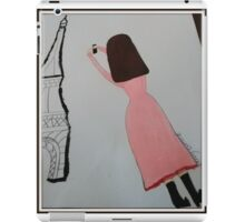 The Girl in the Pink Dress - Paris iPad Case/Skin