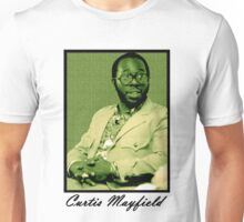 Curtis Mayfield Green Unisex T-Shirt