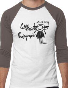 Little Miss Photographer Men's Baseball ¾ T-Shirt