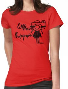 Little Miss Photographer Womens Fitted T-Shirt