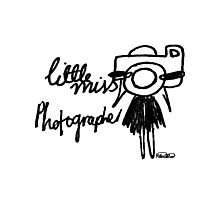 Little Miss Photographer Photographic Print