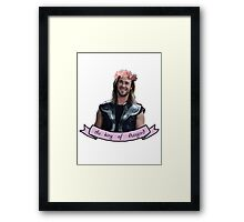 Thor, the king of ASSgard Framed Print