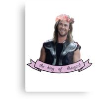 Thor, the king of ASSgard Metal Print