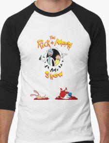 The Rick & Morty Show Featuring Ren & Stimpy Men's Baseball ¾ T-Shirt