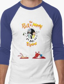 The Rick & Morty Show Featuring Ren & Stimpy Men's Baseball ¾ T-Shirt