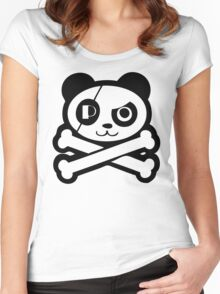 Pirate Panda Eye-Patch Women's Fitted Scoop T-Shirt