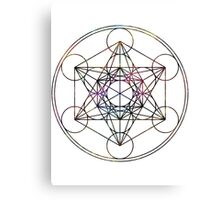 Metatron's Cube on White Canvas Print