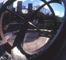Spherical Sundial, Royal Botanical Gardens, Sydney, Australia 2004 Sticker