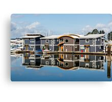 Marina Homes Reflected Canvas Print