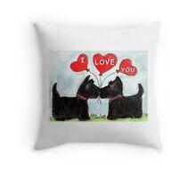 SCOTTIE DOGS I LOVE  YOU BOYFRIEND GIRLFRIEND WIFE HUSBAND ETC. birthday valentines Throw Pillow