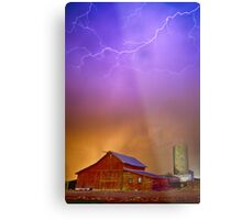 Colorful Country Storm Metal Print