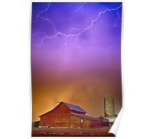 Colorful Country Storm Poster
