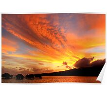 Skyscape at Dawn - Le Tahaa Island Poster
