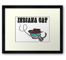 Indiana Cat Framed Print