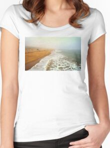 Manhattan Beach On An Early Morning Women's Fitted Scoop T-Shirt