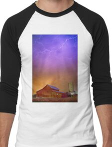 Colorful Country Storm Men's Baseball ¾ T-Shirt
