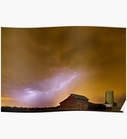 Country Spring Storm Poster