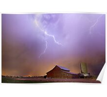 Country Stormy Night Poster