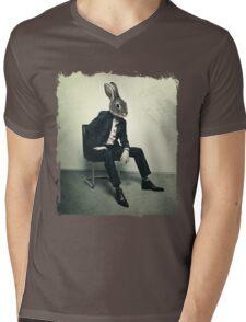Stylish Rabbit Mens V-Neck T-Shirt