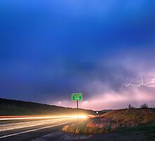 Cruising Highway 36 Into the Storm  by Bo Insogna