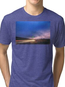 Cruising Highway 36 Into the Storm  Tri-blend T-Shirt