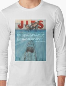 JITS - Mat is Ocean - TITLE AND QUOTE Long Sleeve T-Shirt