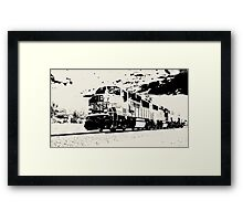 the train kept a-rollin' Framed Print