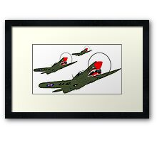 Flying Tigers, Attack Framed Print