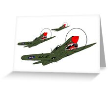 Flying Tigers, Attack Greeting Card