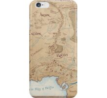 Map of Middle Earth iPhone Case/Skin