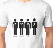 Optimist, Pessimist, Realist, Me (Fairy Tail Ver.) Unisex T-Shirt