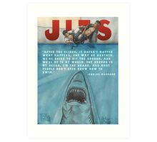 JITS - Mat is Ocean - TITLE AND QUOTE Art Print