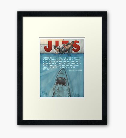 JITS - Mat is Ocean - TITLE AND QUOTE Framed Print