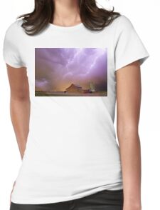 Red Barn on a Farm and What a Beautiful Sight Womens Fitted T-Shirt