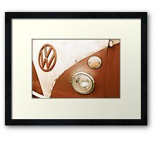 VW Camper Van Badge Framed Print