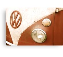 VW Camper Van Badge Canvas Print