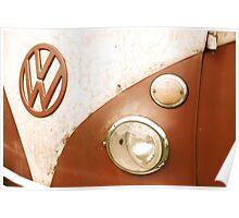 VW Camper Van Badge Poster