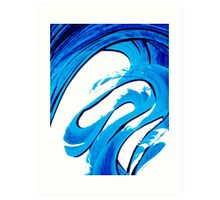 Pure Water 315 - Blue Abstract Art By Sharon Cummings Art Print