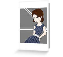 50's Dress Greeting Card