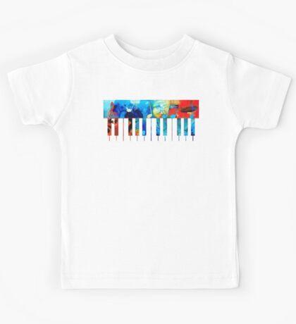 Colorful Piano Art by Sharon Cummings Kids Tee