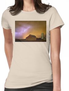 Watching The Storm From The Farm Womens Fitted T-Shirt