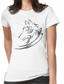 Mighty Wolf Womens Fitted T-Shirt