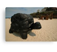Rubber Tyre Tortoise @ Sculptures By The Sea Canvas Print