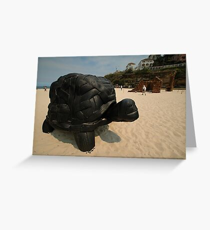 Rubber Tyre Tortoise @ Sculptures By The Sea Greeting Card