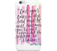 Psalm 55:22 iPhone Case/Skin