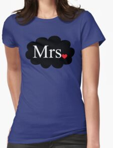 Mrs with heart dot on cloud (Mr and Mrs set) T-Shirt