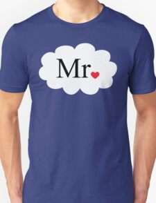 Mr with heart dot on cloud (Mr and Mrs set) T-Shirt